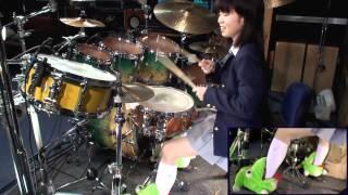 K-ON!  けいおん! Unmei♪wa♪Endless!  drum cover  叩いてみた Senri Kawaguchi