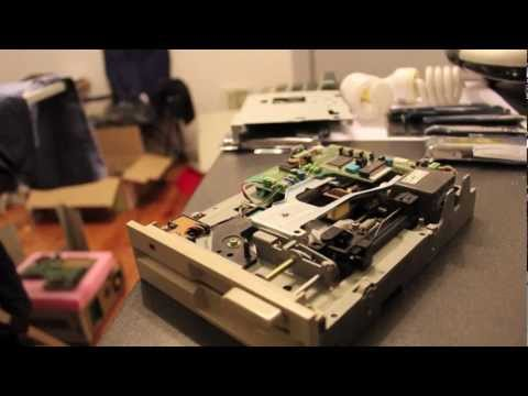 """NEC FD1157C 1.2MB 5.25"""" Floppy Drive Cleaning"""