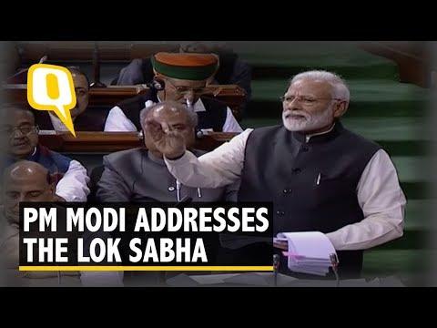 PM Modi Addresses the Lok Sabha