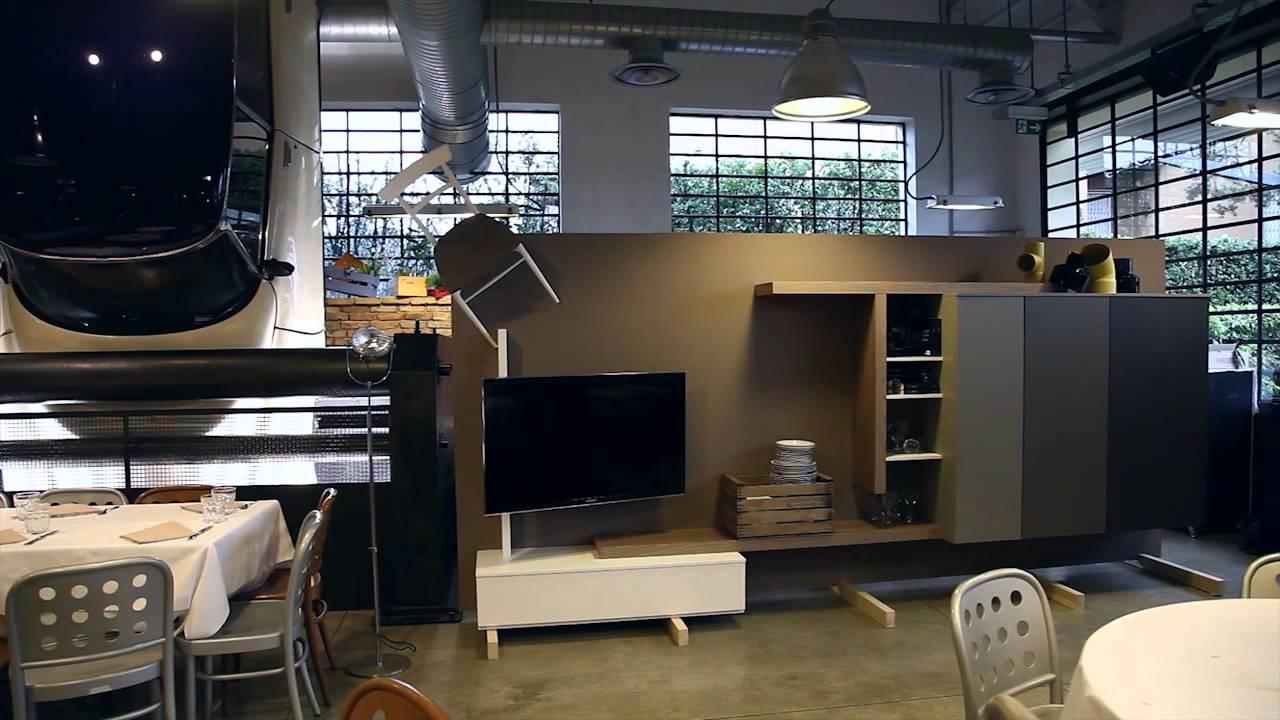 Soggiorno design Side System Tre D - mobile con contenitore e ...