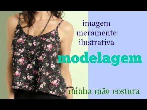 16d8db0e6a MODELAGEM BLUSA DE ALCINHAS - YouTube