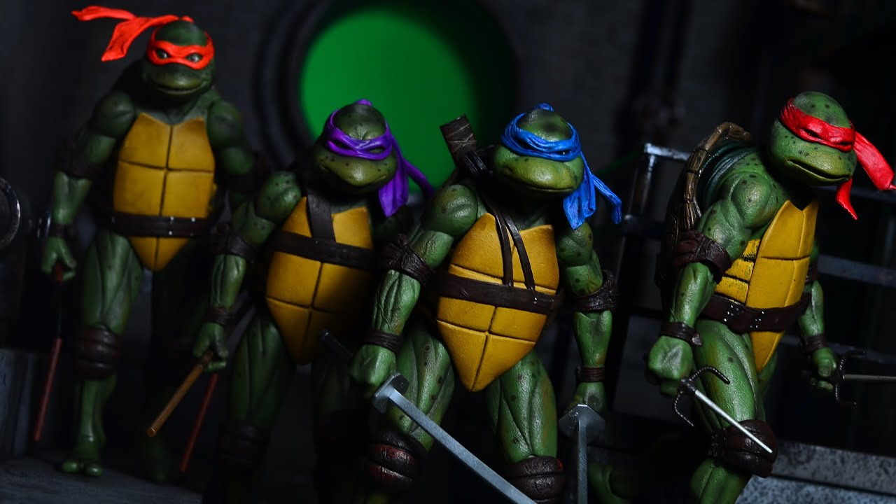 Sdcc Neca 1 12 Scale 1990 Tmnt Movie Teenage Mutant Ninja Turtles