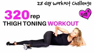 At Home Workout For Women - Thigh Exercise Workout Challenge - Pilates & Calisthenics inspired moves