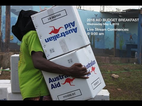 2016 Aid Budget breakfast - Live Stream