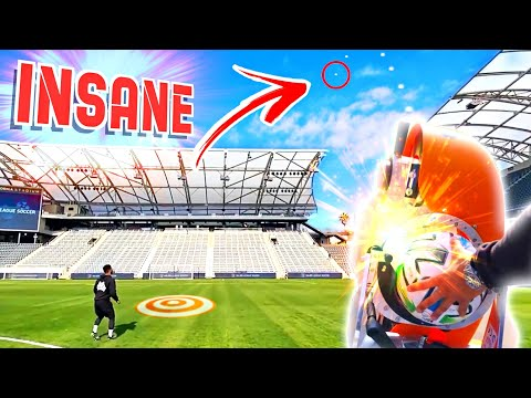 INSANE BALL LAUNCHER TOUCH CHALLENGE! ⚽️💥 *STADIUM EDITION* Thumbnail