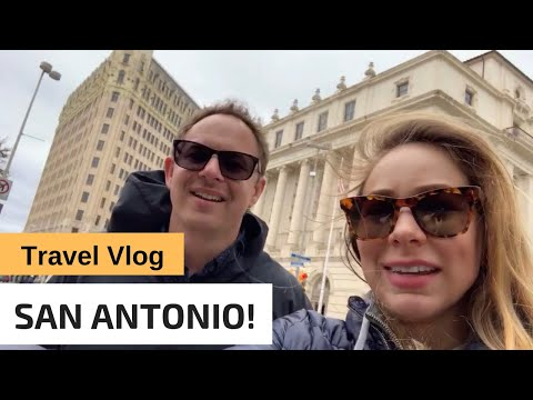 WELCOME To SAN ANTONIO - EMILY MORGAN HOTEL, ALAMO, And RIVERWALK - Travel Vlog
