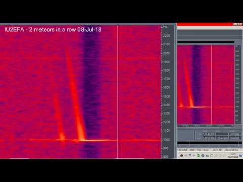 IU2EFA 2 meteors in a row captured 8 7 18