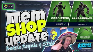 🆕MenamesCho's LIVE 🔵 NEW B.R.U.T.E SKINS ITEM SHOP UPDATE ⚡ Fortnite Battle Royale 1st August 2019