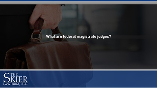 What are federal magistrate judges?