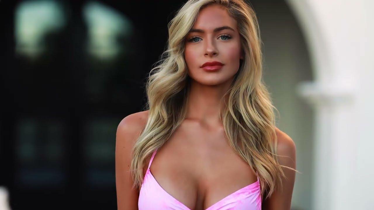 Shooting FIRE with HANNAH PALMER- Pink Bikini