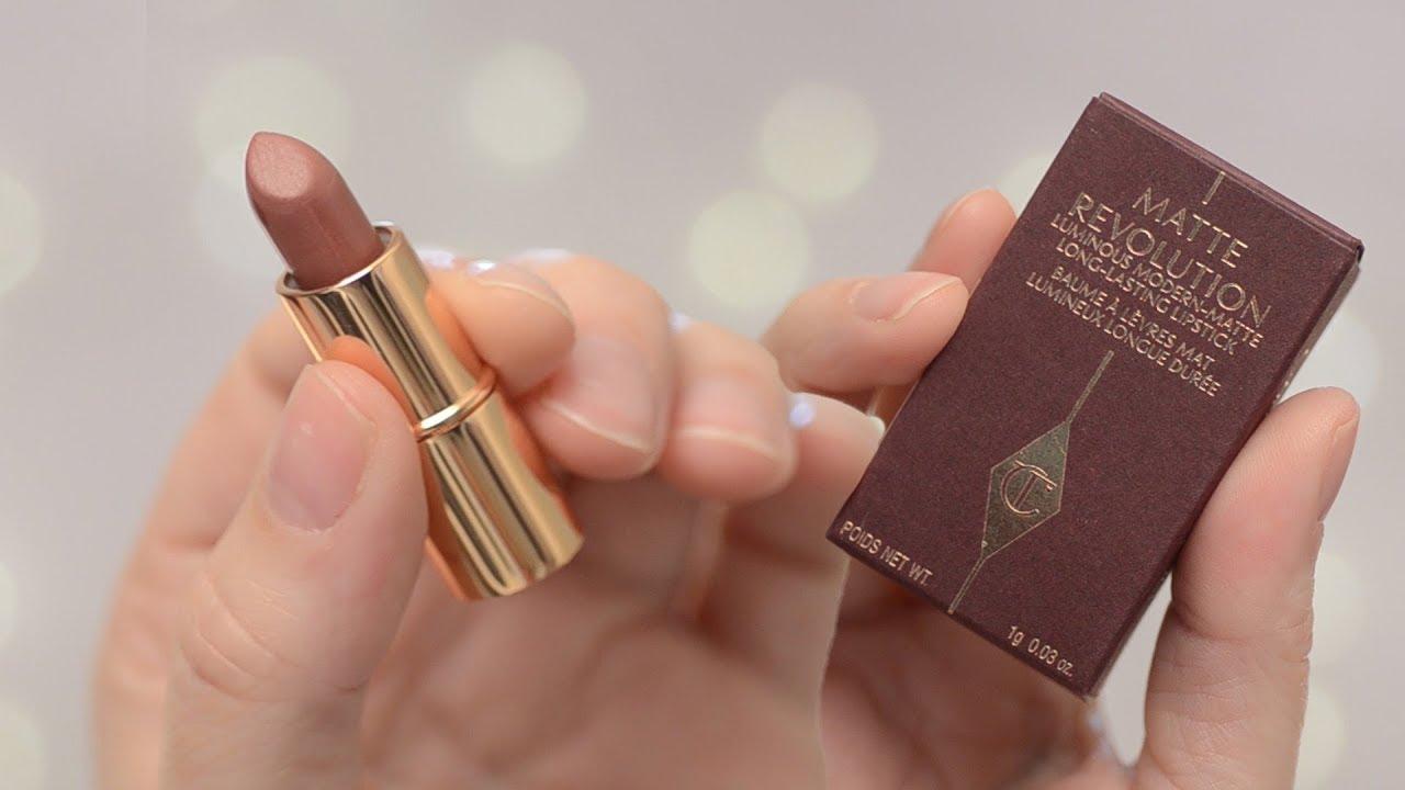 pillow talk matte revolution lipstick from charlotte tilbury 12hr wear test review corrie v