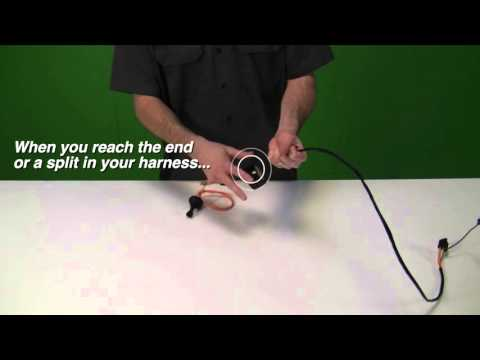 properly wrapping your harness youtube  universal cloth covered spark plug wire
