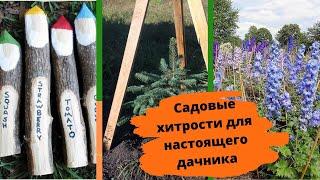Маленькие садовые хитрости, которые пригодятся разумному дачнику