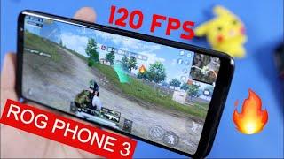 Rog Phone 3 120 FPS PUBG Gameplay Test with FPS & Heating | BAWAAAL GAMING