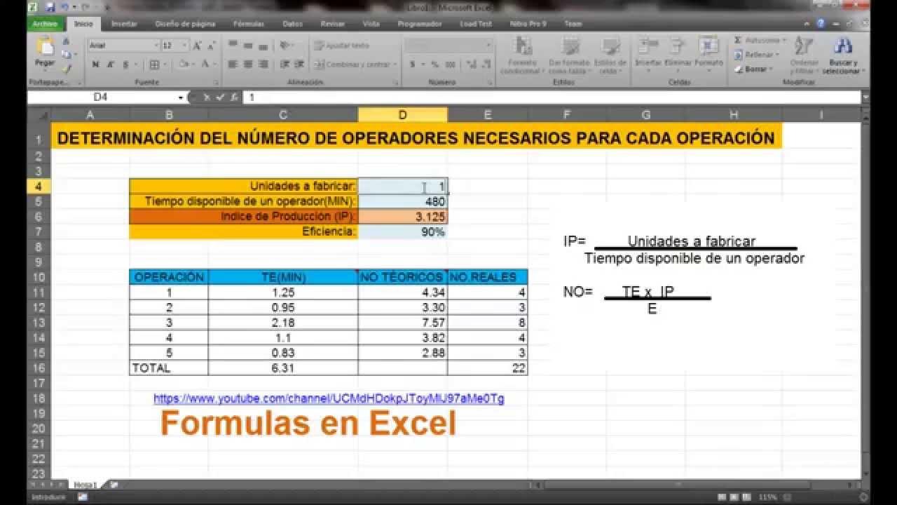 Ingeniería Industrial: Determinación del número de operadores ...