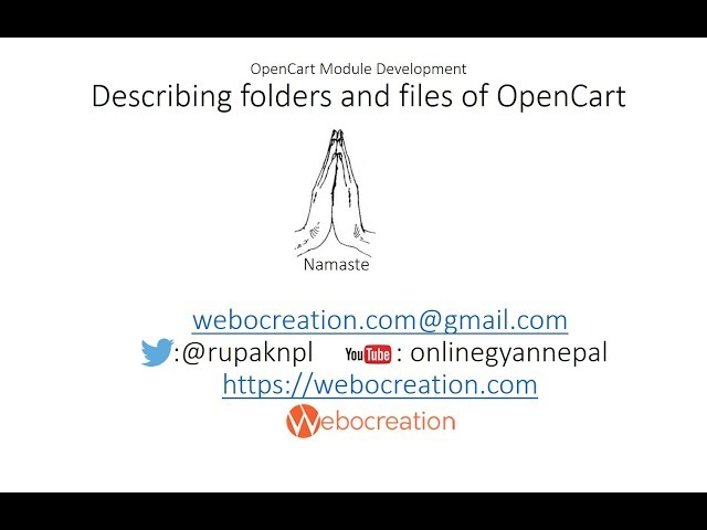 Describing files and folder of OpenCart Framework - OpenCart tutorial