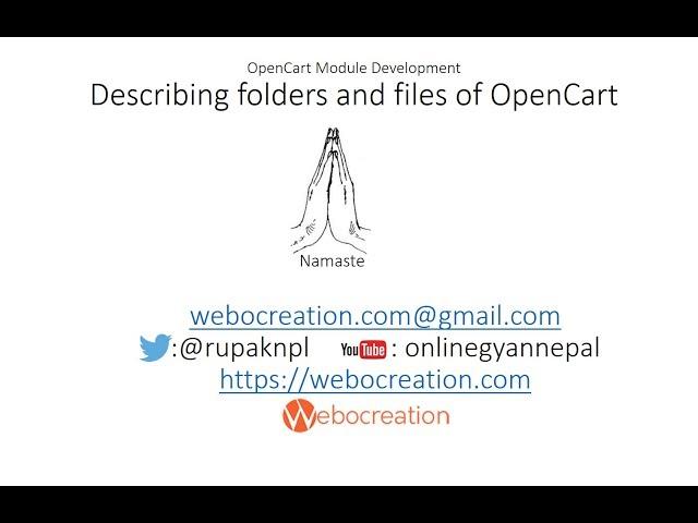 Describing files and folder of OpenCart Framework - OpenCart tutorial