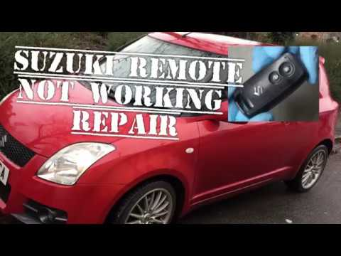 Suzuki Swift Remote Key not working, How to Replace Battery