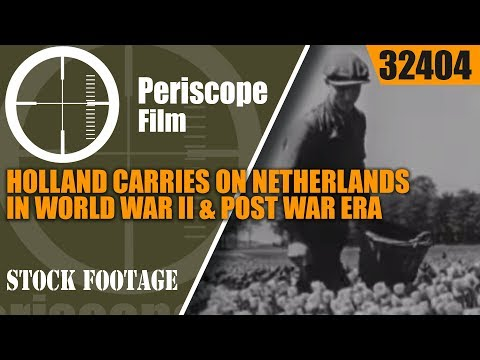 HOLLAND CARRIES ON   NETHERLANDS IN WORLD WAR II & POST WAR ERA  PROPAGANDA MOVIE 32404