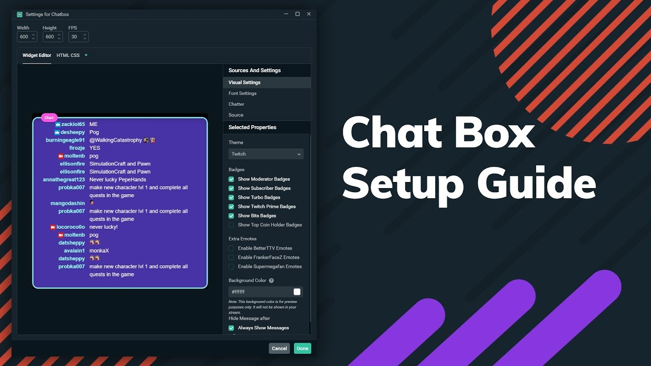 Streamlabs Chat Box | Chat Overlay Widget for Twitch
