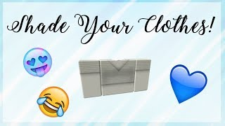 How To Shade Your Clothes On Roblox! | Speedpaint No. 1