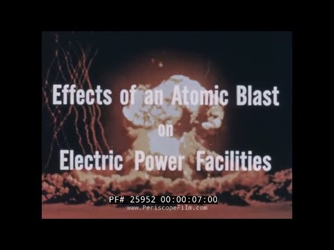 EFFECTS OF AN ATOMIC BLAST ON ELECTRICAL POWER FACILITIES 25952