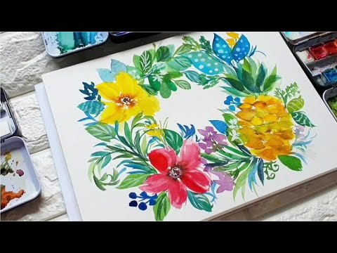 How to Paint Flowers By Joly Poa   Watercolor Painting