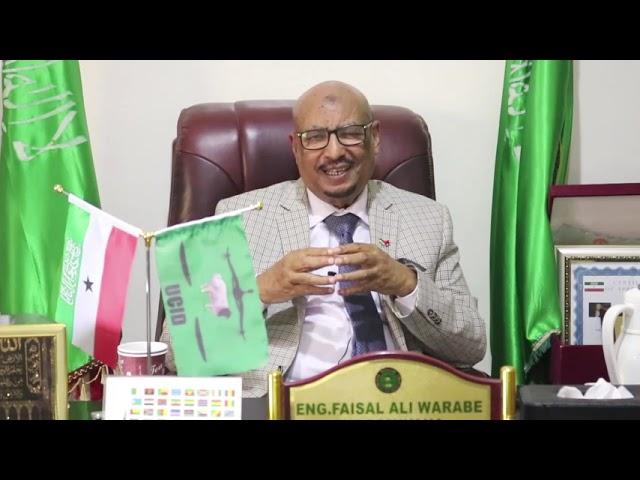 Wada Hadal Danbe Oo La Gali-mayno Somalia, Guddmiyaha Xisbiga UCID, Eng. Faysal Cali Waraabe