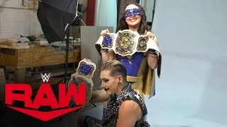 Rhea Ripley \u0026 Nikki A.S.H. pose as WWE Women's Tag Team Champions: Raw Exclusive, Sept. 20, 2021