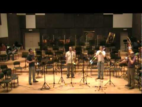 "Belgrade trombone quartet- ""Round midnight"" by Sli..."