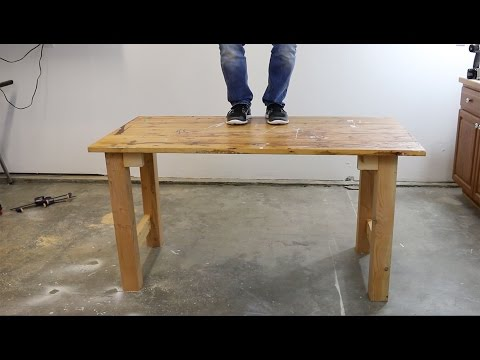 diy scrap wood workbench part one