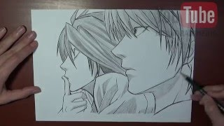 Speed Drawing Light and L - Death Note