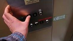 Old Kone traction elevator/lift in Vanhantullinkatu 4, Oulu