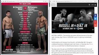 UFC Damien Mai vs Kamura Usman Showtime Gary Russell vs Joey Diaz Jr., what to do?