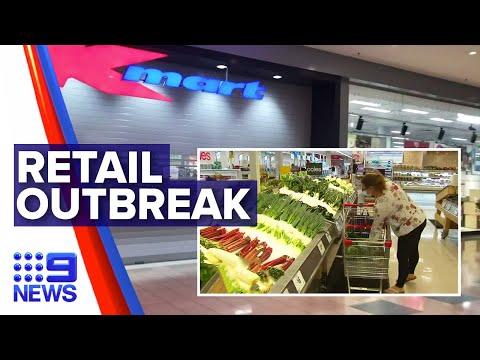 Coronavirus: Five Cases Of COVID-19 Across Major Retailers | Nine News Australia