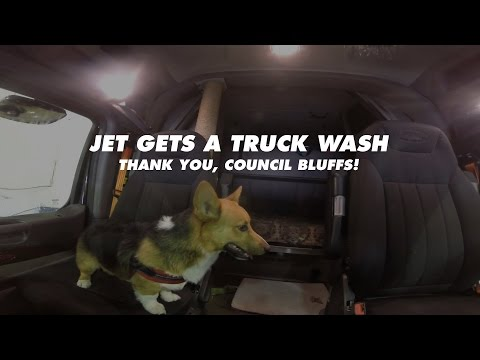 Jet Gets a Truck Wash | Allie Knight