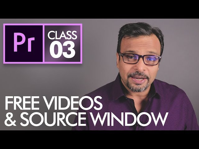 Source Window & Download FREE Videos - Adobe Premiere Pro CC Class 3 - Urdu / Hindi