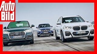 BMW X3 vs Audi Q5 & Mercedes GLC (2017) - Neuer X3 im ersten Vergleich Review/Details