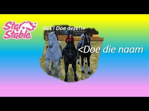 discuseren met Anna en Lily over paarden namen