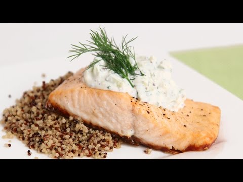 Salmon Fillets With Creamy Cucumber Dill Sauce Recipe - Laura In The Kitchen Episode 803
