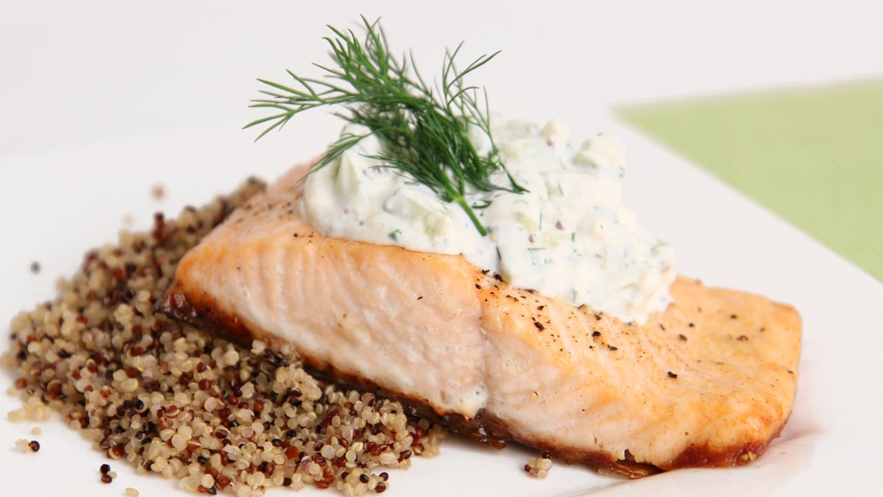 Salmon Fillets With Creamy Cuber Dill Sauce Recipe Laura In The Kitchen Episode 803 Youtube
