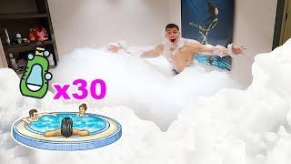 EXPERIMENT - DUSCHGEL VS WHIRLPOOL !!! (SCHAUM EXPERIMENT) | PrankBrosTV