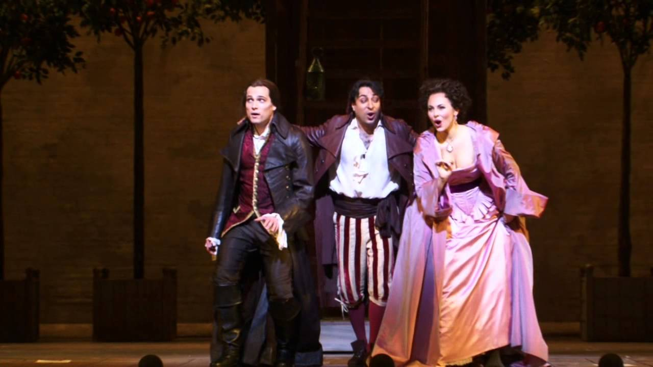 "The Barber of Seville: ""Let's be quiet, calm and clever"" -- Leonard, Shrader, Pogossov (Met Opera)"