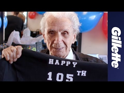 World's Oldest Barber: Gillette Celebrates Anthony Mancinelli