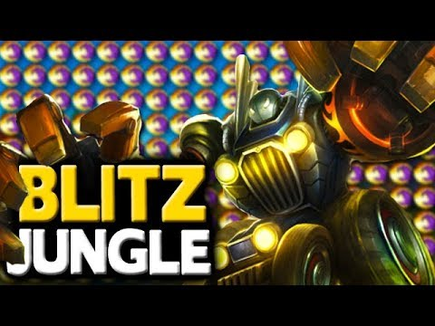 FIRED UP AND READY TO GANK - Blitzcrank Jungle Gank MACHINE - League of legends