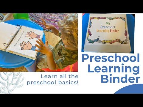 Preschool Learning Binder: Learn the Basics!