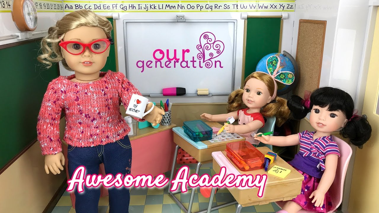 Our Generation Awesome Academy School Classroom Set For