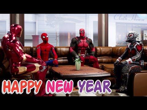 Happy New Year 2018   Deadpool, Ant-Man, Iron Man & Spider-Man   Hindi Comedy   Pakau TV Channel