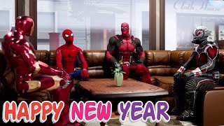 Happy New Year 2018 | Deadpool, Ant-Man, Iron Man & Spider-Man | Hindi Comedy | Pakau TV Channel