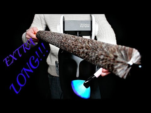 ASMR Ultimate Ear Brushing Like You Have Never Seen Using an Extra Long Brush!! (No Talking)